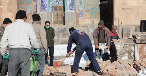 عملیات اصلاح صحن اصلی بقعه شیخ صفی الدین اردبیلی شروع شد